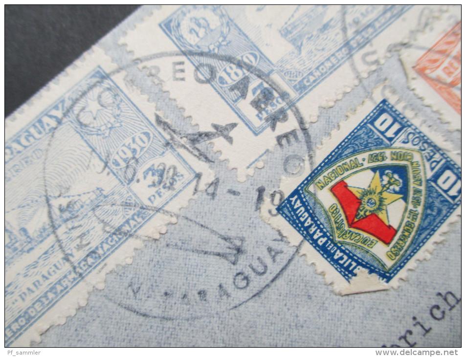 Paraguay 1939. Luftpostbeleg / Zeppelin. Stempel: Zeppelin. MiF Interessanter Beleg - Paraguay