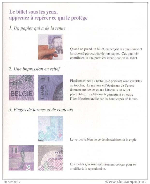 DÉPLANT - BILLET DE 2000 Francs Belges En Hommage à L´architecte VICTOR HORTA. - Belgique