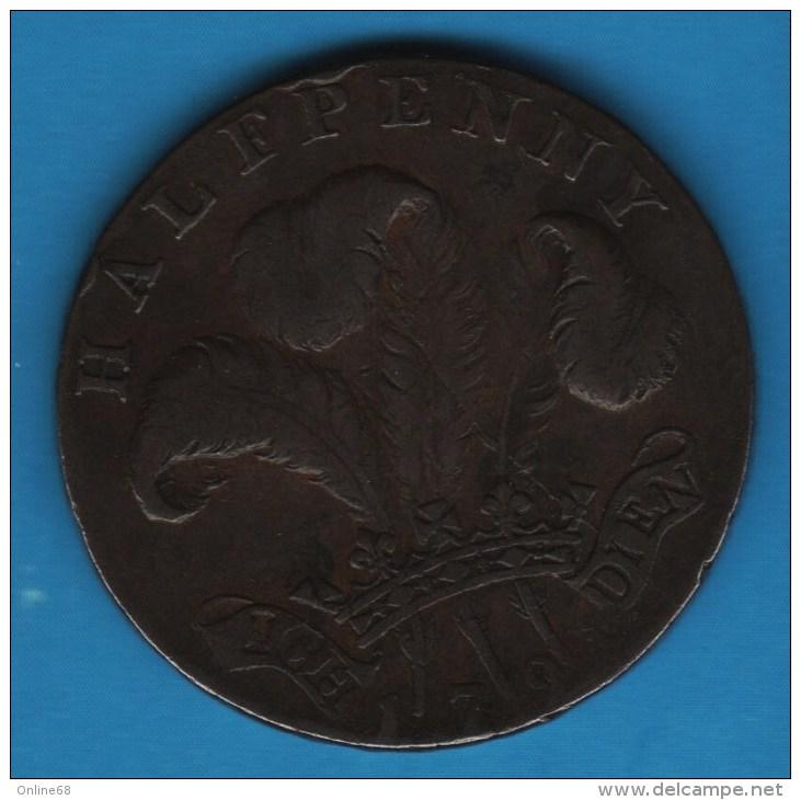 SUSSEX / BRIGHTON GEORGE PRINCE OF WALES 1794 HALFPENNY  TOKEN - Professionnels/De Société