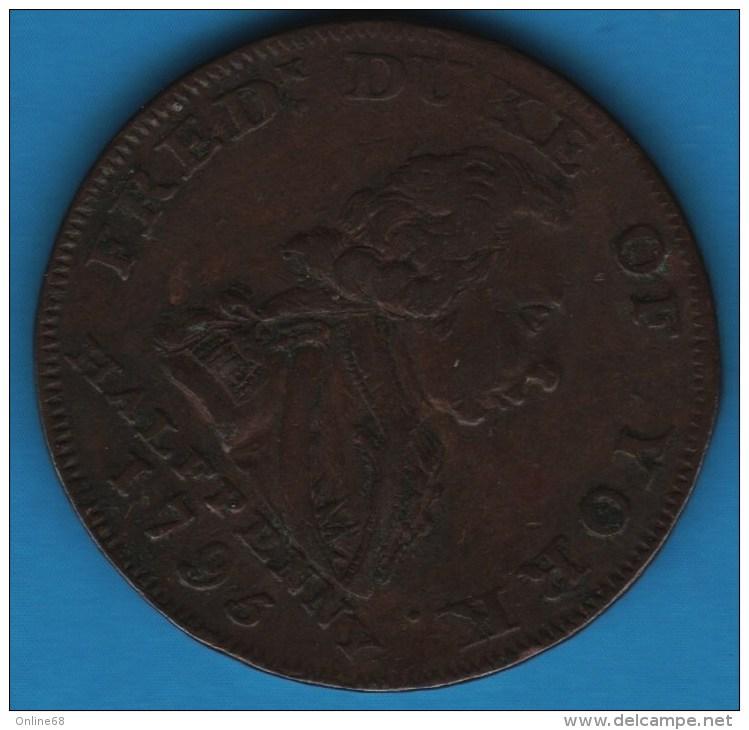 Middlesex National Series London 1795/1794 HALFPENNY  Fredrick Duke Of York  D-H 992 - Professionnels/De Société
