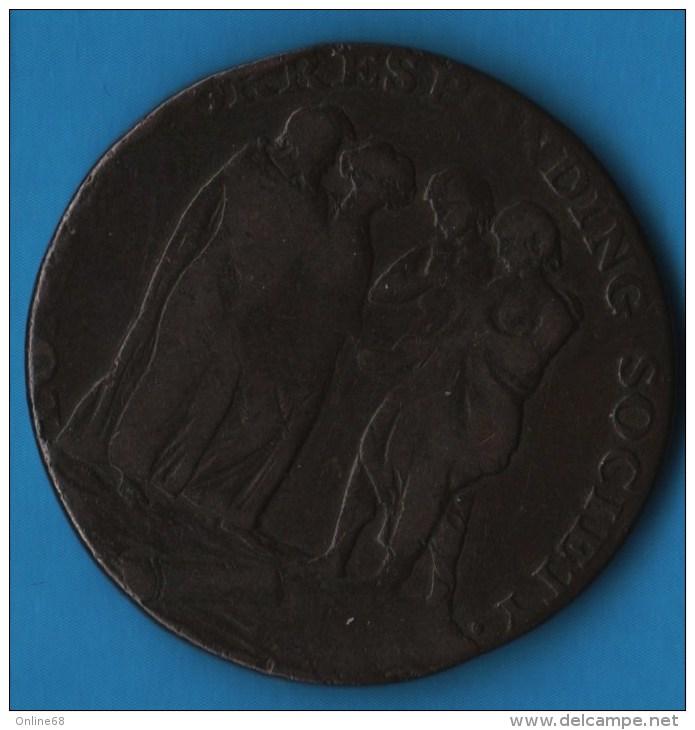 Middlesex NEWGATE 1795 HALFPENNY  PRISON CORRESPONDING SOCIETY  D-H 395 - Professionnels/De Société
