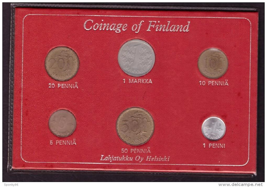 DECIMALE DELLA FINLANDIA - CONIAGE OF FINLAND - ANNO 1971 -  LAHJATUKKU OY HELSINKI - 1 MARKKA - 20 PENNIA - 10 PENNIA - - Finlandia