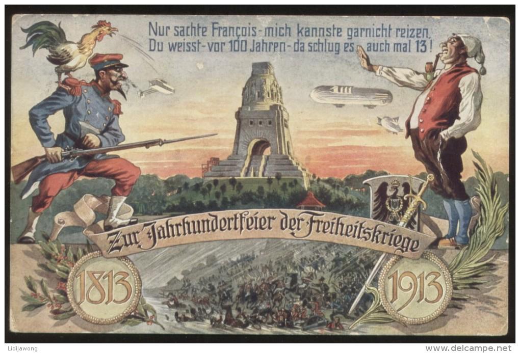 Zur Jahrhundertfeier Der Freiheitskriege Völkerschlachtdenkmal 1813-1913 - Militaria