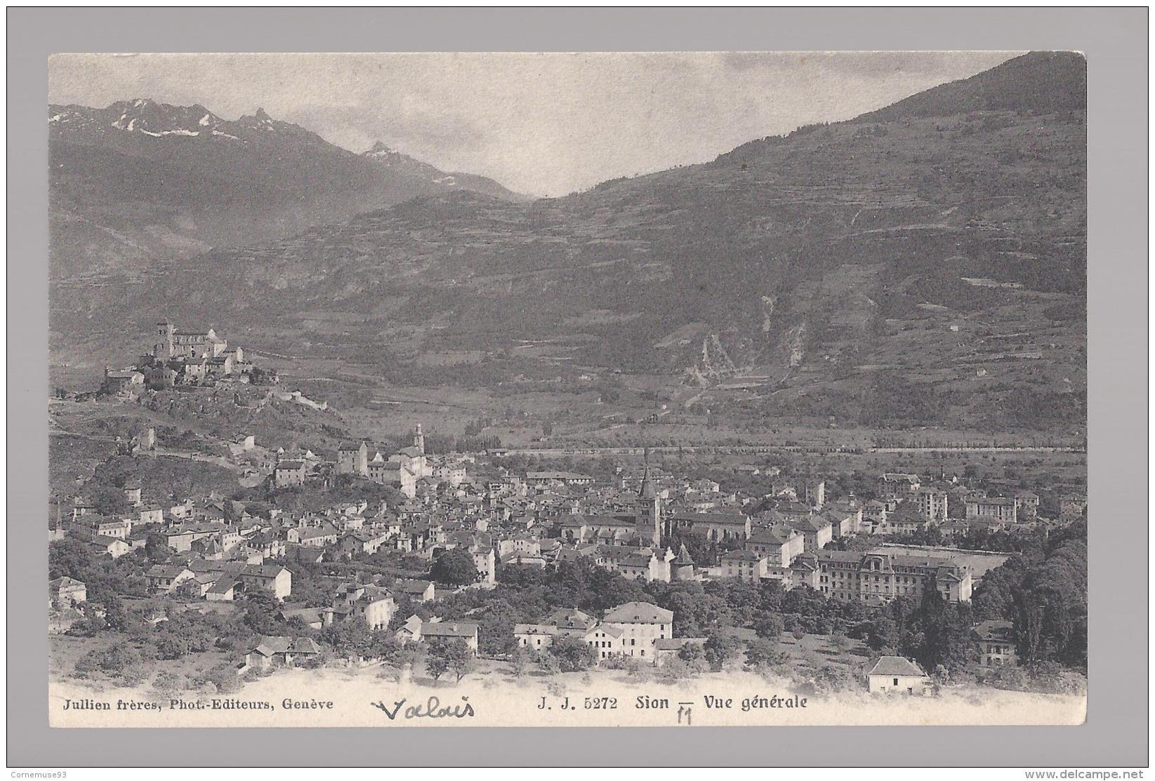 CPA SUI- VALAIS - SION - VUE GENERALE - VS Valais