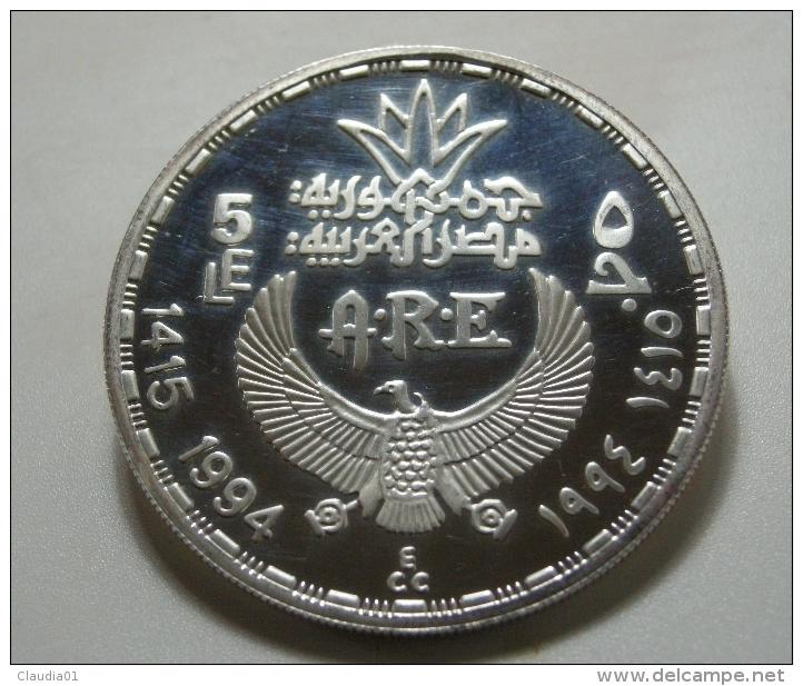 """EGYPTO 5 LIBRAS PLATA 999ml 1994  PROOF """" GOAT RIGHT""""  22,5g   Km# 825 - Egipto"""
