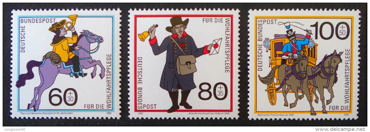 HISTOIRE DES POSTES 1989 - NEUFS ** - YT 1437/39 - MI 1269/71 - [7] République Fédérale