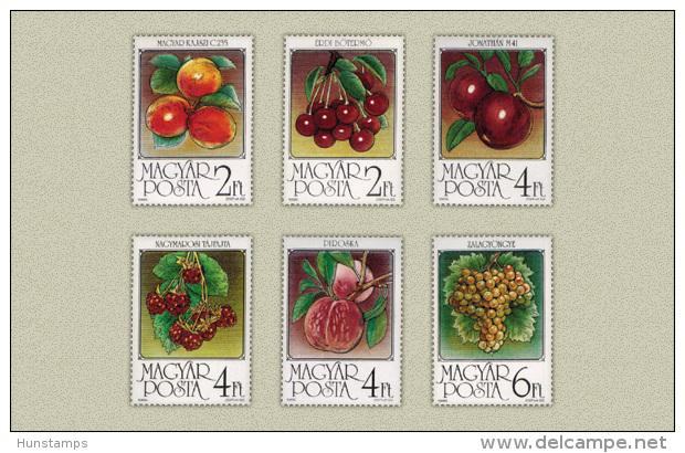 Hungary 1986. Fruits Set MNH (**) Michel: 3848-3853 / 6 EUR - Ungebraucht