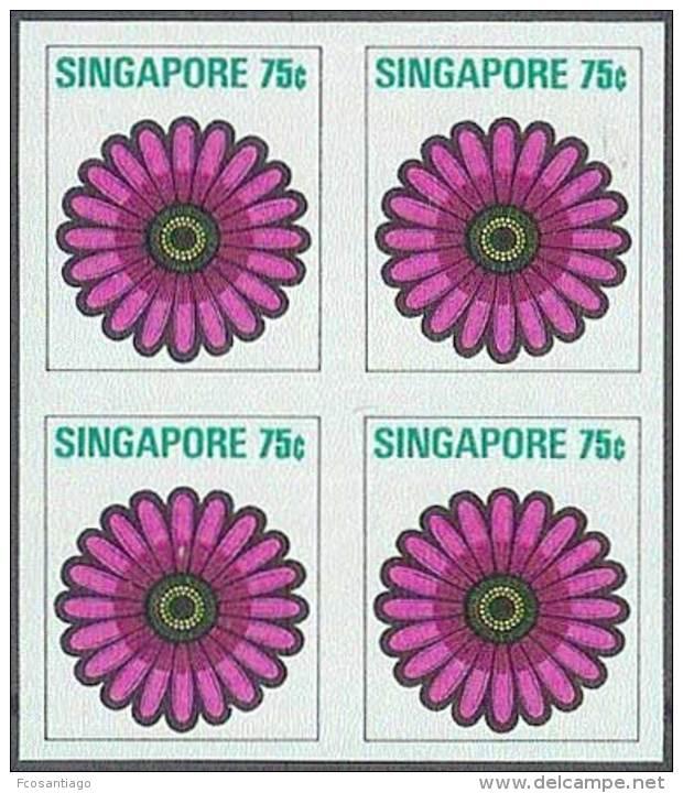 SINGAPUR1973 - Yvert #196 - MNH ** - Pruebas En Bloque De 4 - !Raros! - Singapur (1959-...)