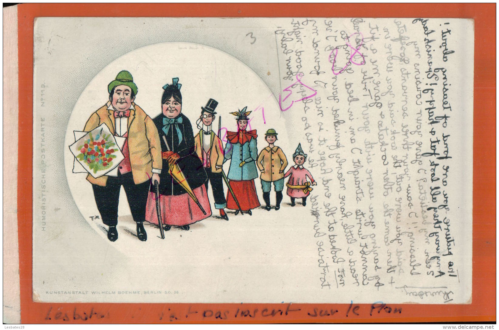 CPA HUMOUR  FANTAISIES Humoristiche Postkarte N°119   La Visite Familiale  AV 2016 1237 - Illustrators & Photographers