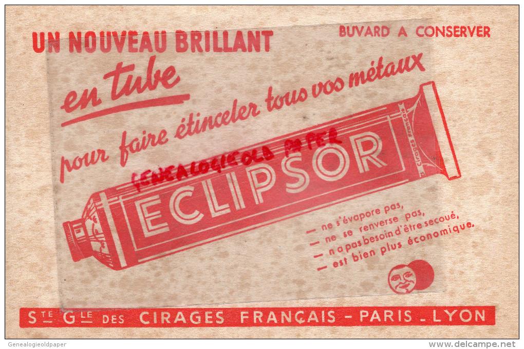 69 - LYON - 75- PARIS - BUVARD ECLIPSOR - CIRAGE CIRE POUR METAUX - CIRES - Vloeipapier