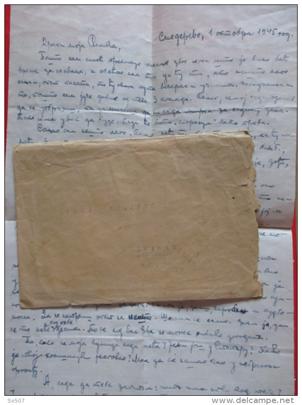 T10-Covers,Envelope,Letter Yugoslavia Army-Mortar Military Unit, 2 Battalion,12. Vojvodina Brigade,51 Division,Smederevo - 1945-1992 Socialist Federal Republic Of Yugoslavia