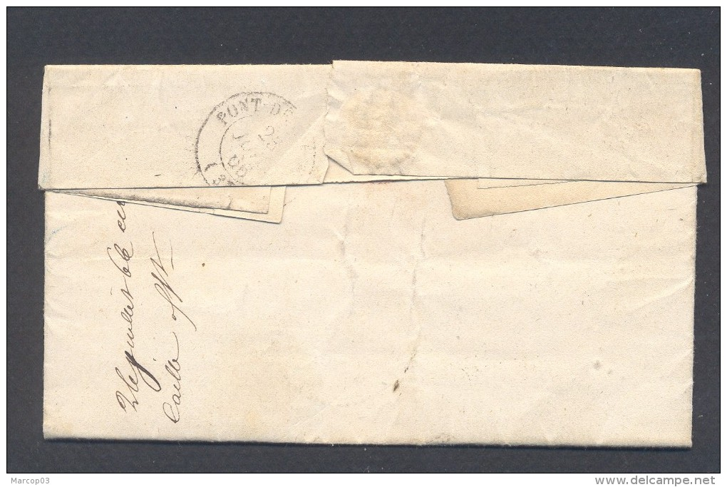 ISERE 39 TREPT D'ISERE LAC Tad Type 22 Du 22/07/1866  GC 4017 Sur N° 22 (def) TB Ind18 - Postmark Collection (Covers)