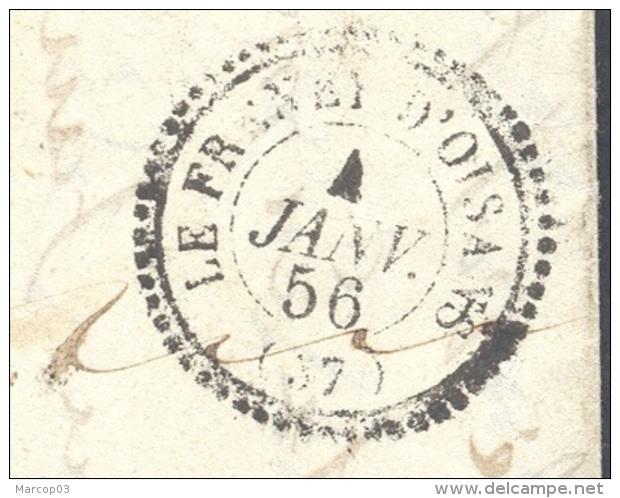 ISERE 39 LE FRENEY D'OISANS LAC Tad Type 22 Du 04/01/1856 Lettre Proximité Taxe 1 Pour Bourg D'oisans TTB - Marcophilie (Lettres)