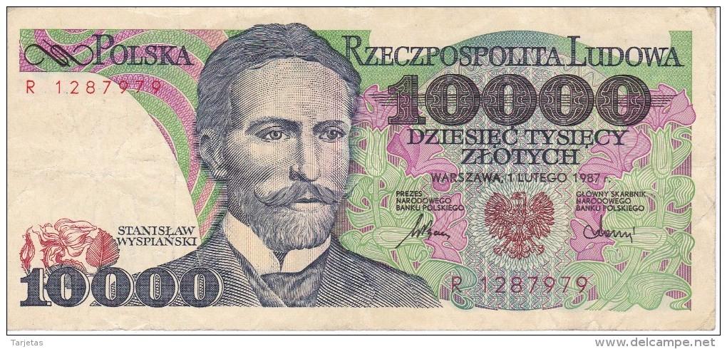 BILLETE DE POLONIA DE 10000 ZLOTYCH  AÑO 1987  (BANKNOTE) - Polonia