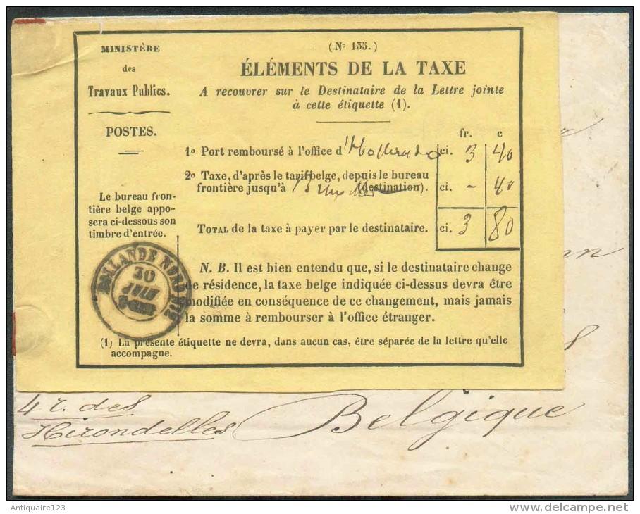 Lettre En Provenance Des Indes Néerlandaises (probablement De CURACAO(petite Découpe) Vers BRUXELLES (BE) (arrivée Au V - Autres - Europe
