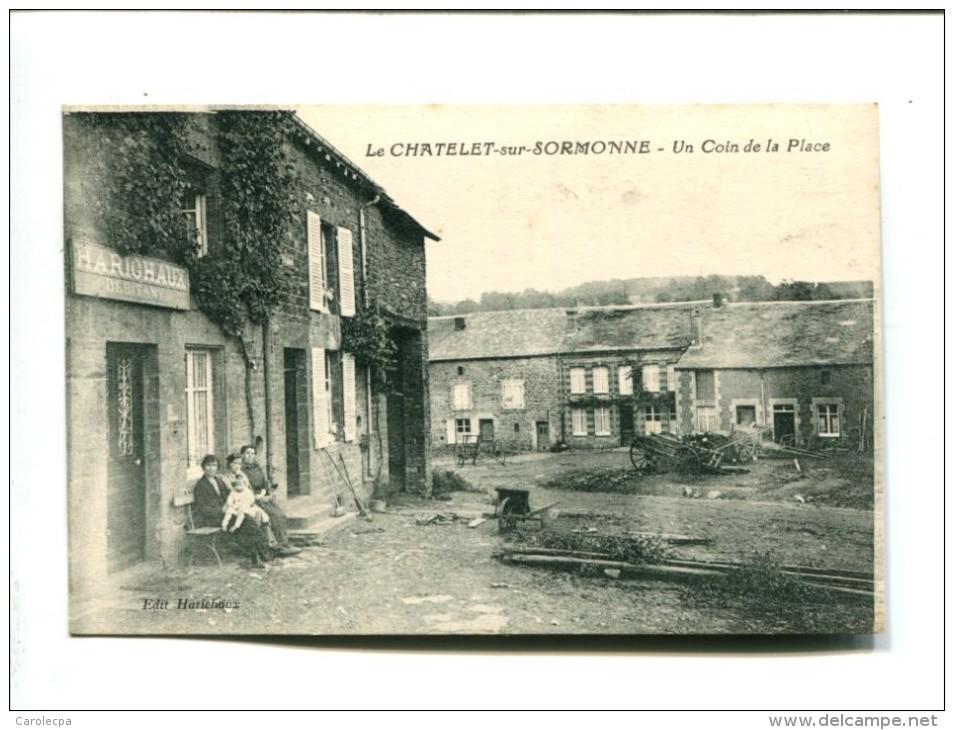 CP - LE CHATELET SUR SORMONNE (08) UN COIN DE LA PLACE - Other Municipalities