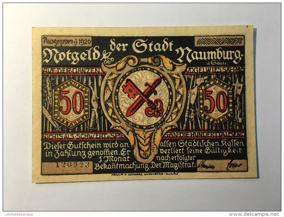 Allemagne Notgeld Naumburg  50  Pfennig 1921 NEUF - Non Classés