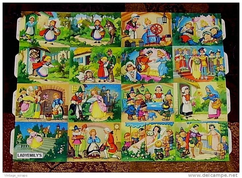 SCRAPS MLP 985 Fairytales Contes De Fées Vintage Mamelok Big Sheet Decoupis Grande Feuille De Cru Decoupage - Scrapbooking