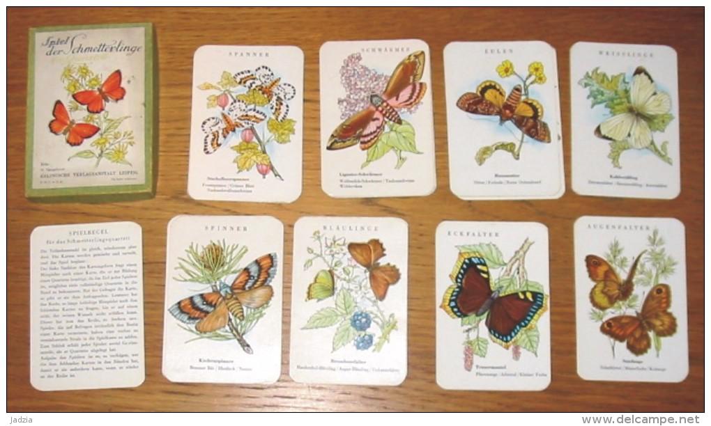 Jeu De Cartes Familles Les Papillons En Allemand Année 50 + Boîte - Spielkarten