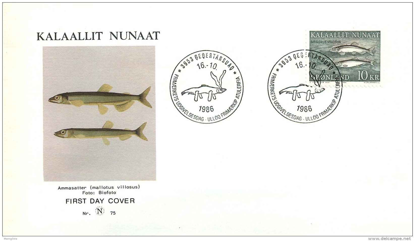 1986  Fish  MiNr 168 - FDC