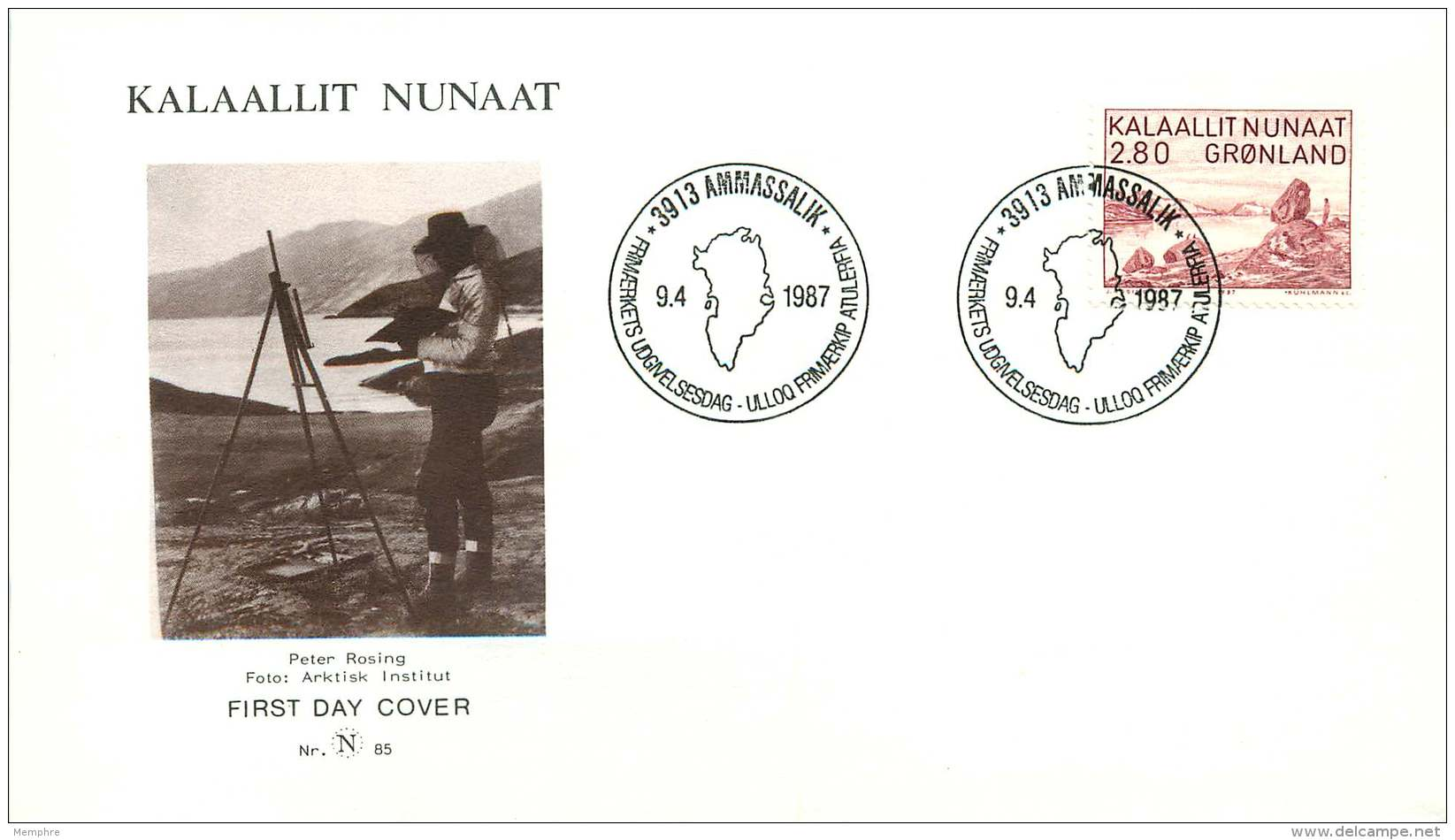 1987  Landscape Painting By Peter Rosing MiNr 172 - FDC