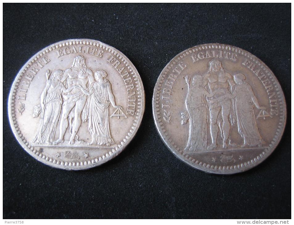 5 Francs Hercule (2 Piéces) - Frankreich