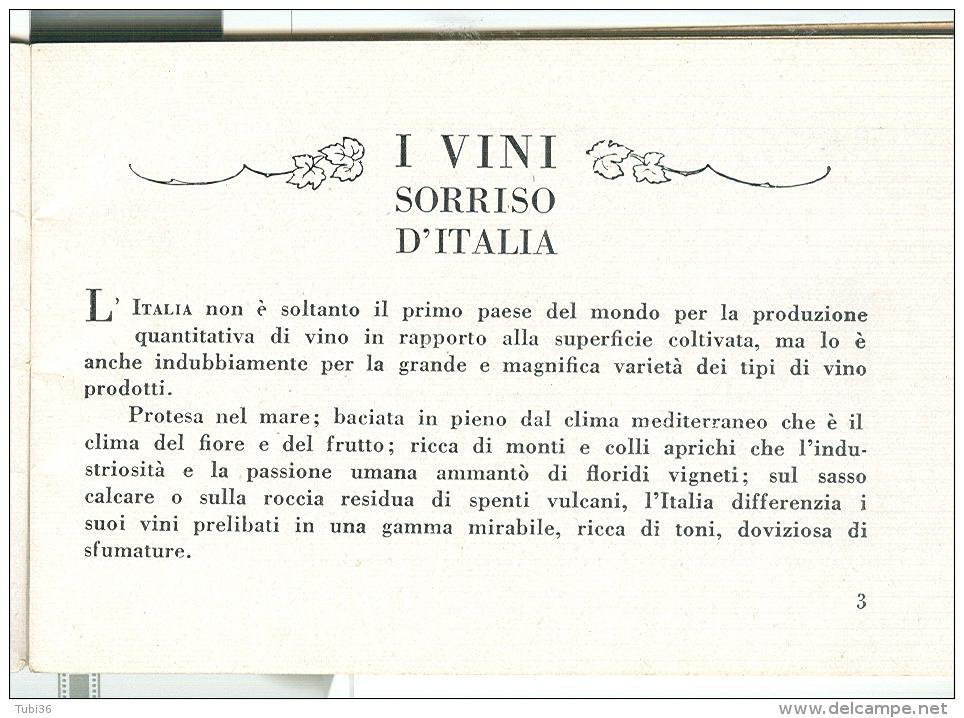 I VINI, SORRISO D'ITALIA, FEDERAZIONE NAZIONALE FASCISTA COMMERCIO ENOLOGICO E OLEARIO-ROMA-1933-pagg.45-cm 12X8 - Vino