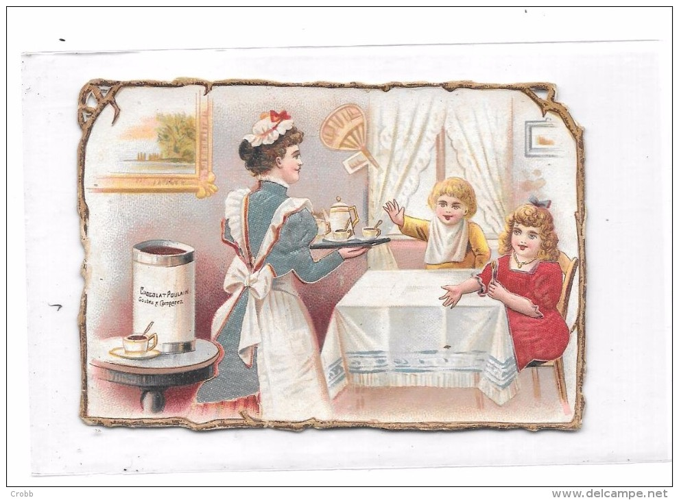 9168 - Chromo CHOCOLAT POULAIN Gauffré, Enfants à Table - Poulain