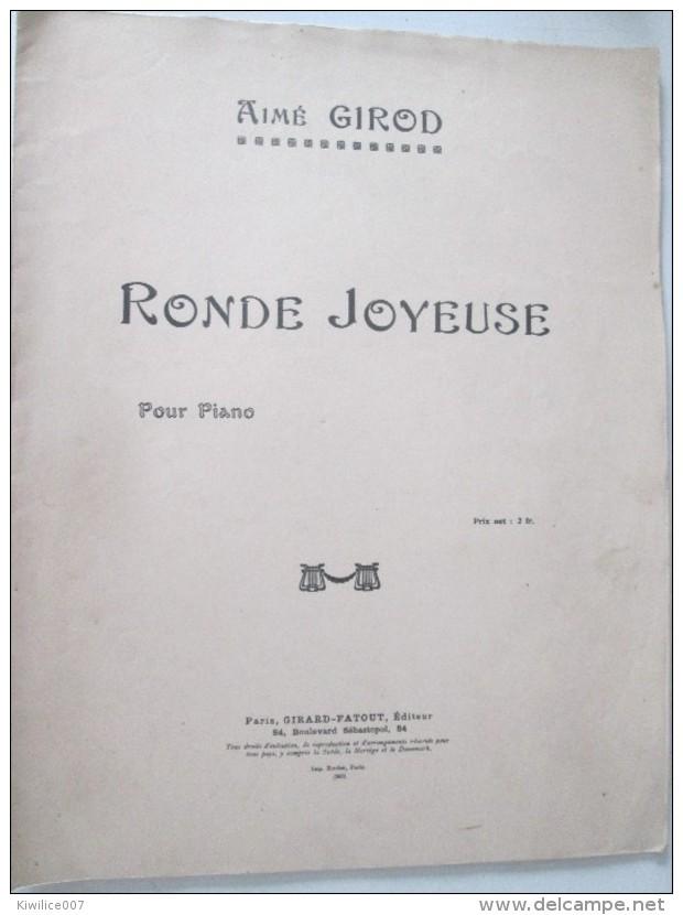 RONDE JOYEUSE  Aimé Girod  Partition Enfants   Marche Valse   Polka  Mazurka Romance - Musique & Instruments