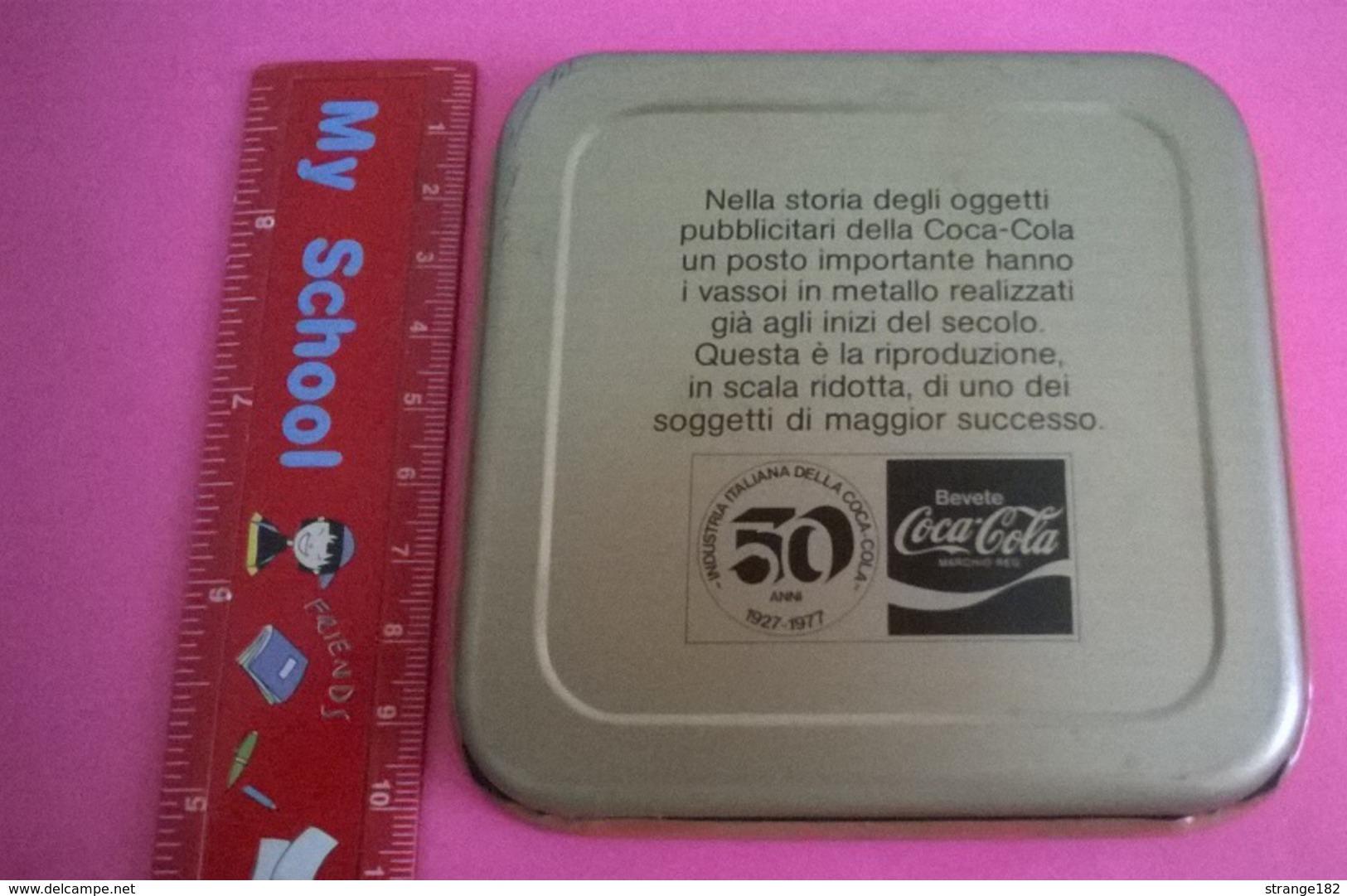 SOTTOBICCHIERE COCA COLA 1927- 1977 INDUSTRIA ITALIANA DELLA COCA COLA SOANNI - Sottobicchieri Di Birra