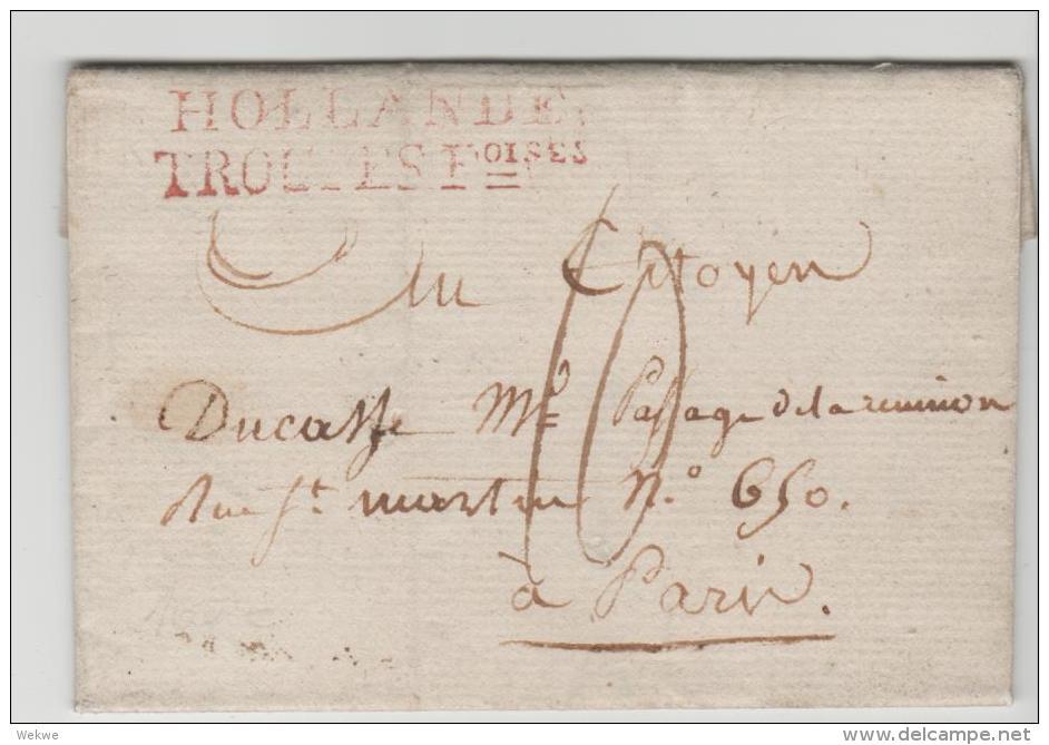 NL036 - NIEDERLANDE - / Le Haye 1808. Franz. Militär In Holland (voller Textinhalt) - ...-1852 Vorläufer
