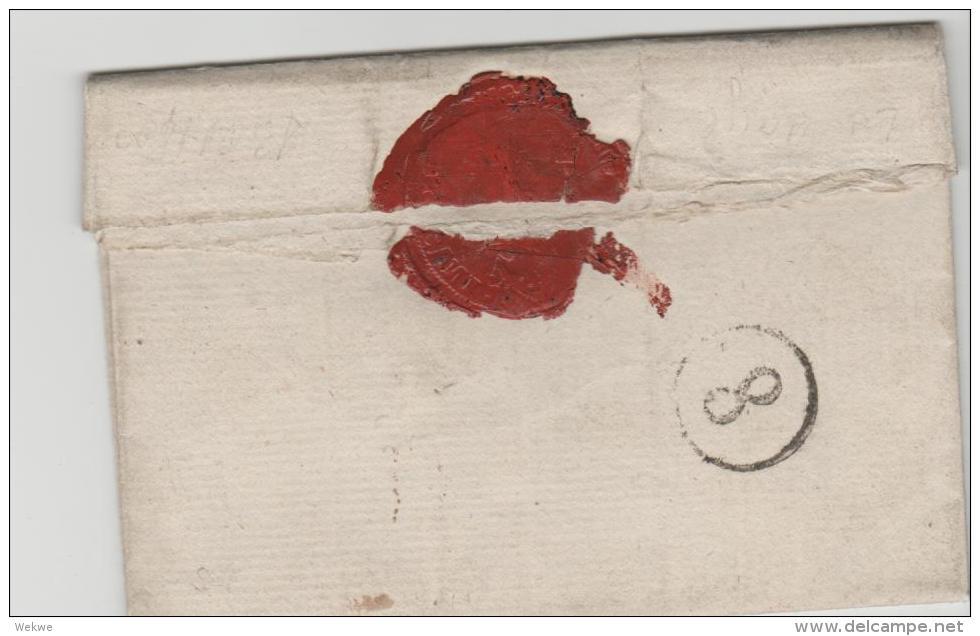 NL036 / Le Haye 1808. Franz. Militär In Holland (voller Textinhalt) - Niederlande