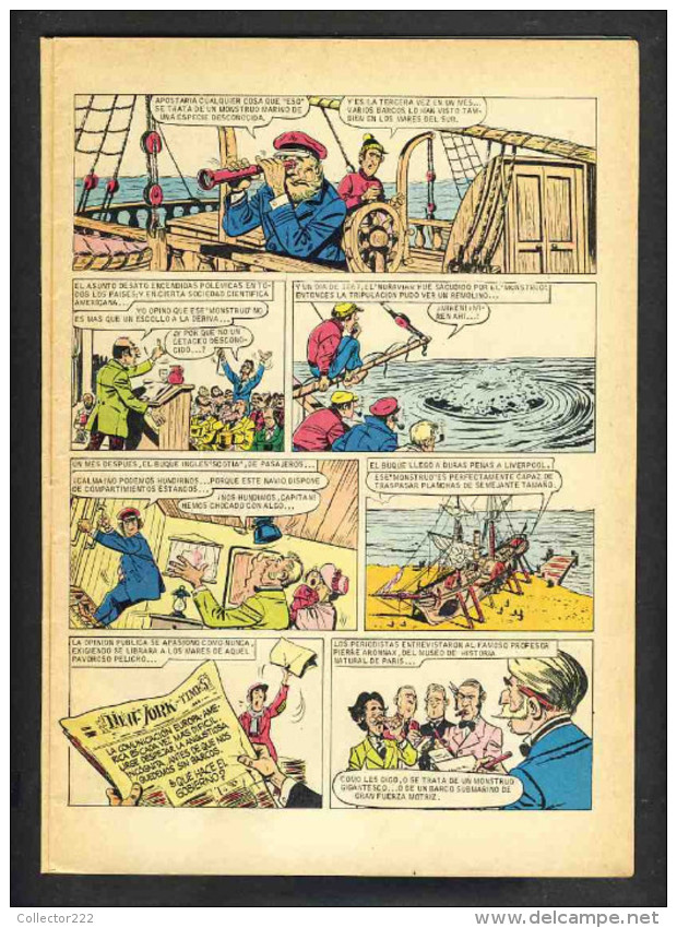 Bande Desinee 20000 LEGUAS DE VIAJE SUBMARINO (BD, 30 Pages), De Jules Verne (Col.Joyas Literarias) (Ref.83743) - Non Classés