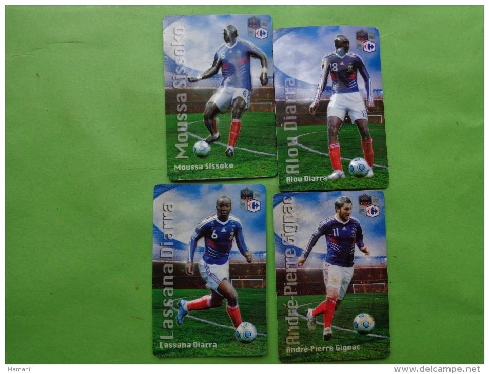 Lots De Magnets Carrefour Fff Diarra-gignac-diarra--sissoko- - Sports