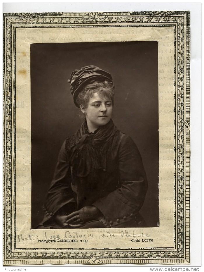 France Theatre Actrice Luce Couturier Ancienne Photoglyptie Photo Lopez 1875 - Photographs