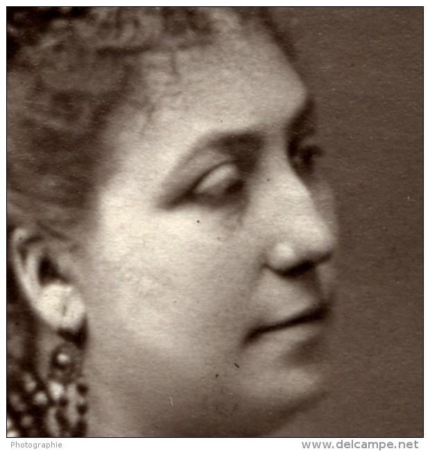 France Opera Chanteuse Amelie Sbolgi Ancienne Photoglyptie Photo Lumiere 1875 - Old (before 1900)