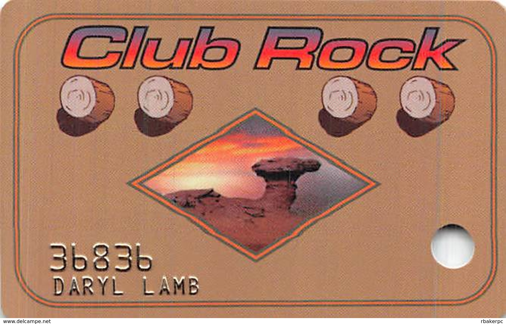 Camel Rock Casino Tesuque NM 1st Issue Slot Card - Last Paragraph 10mm High - Casino Cards