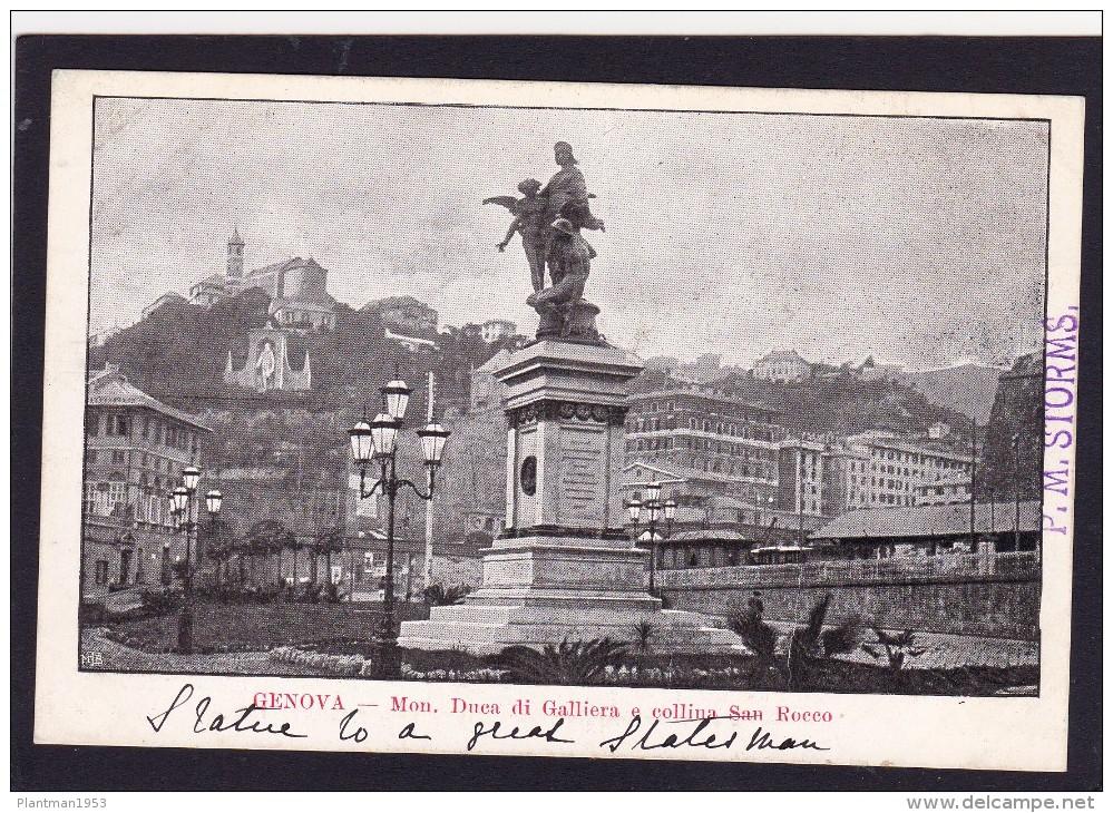 Old Card Of Monumento Duea Di Galliera,Genoa,Genova, Liguria, Italy,N37. - Genova (Genoa)