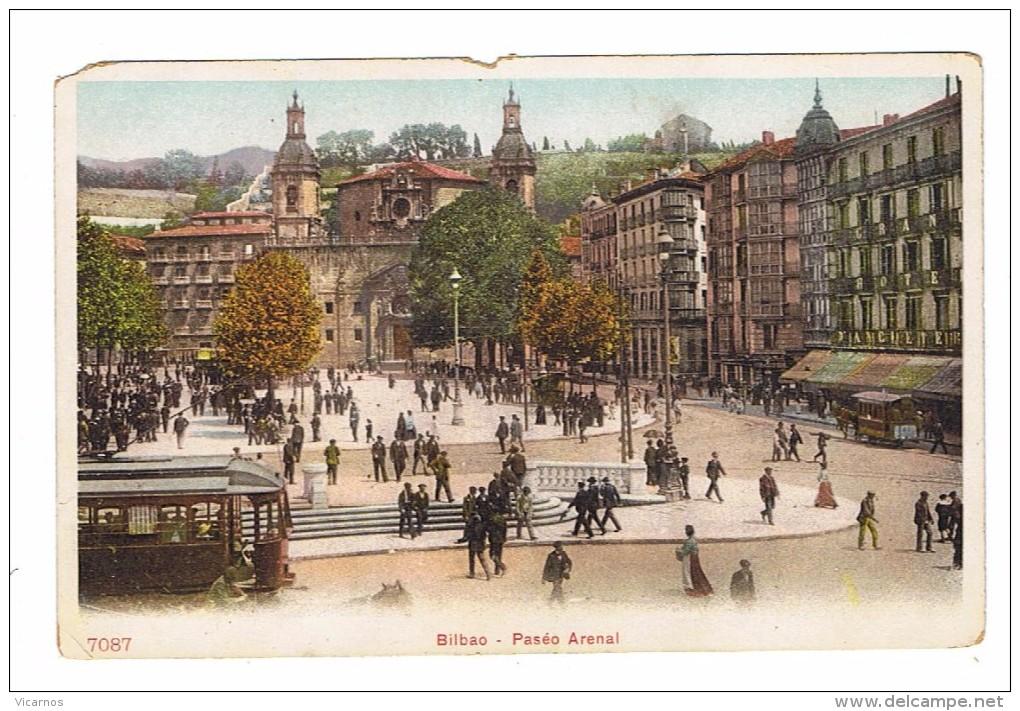 CPA ESPAGNE BILBAO Paseo Arenal - Vizcaya (Bilbao)