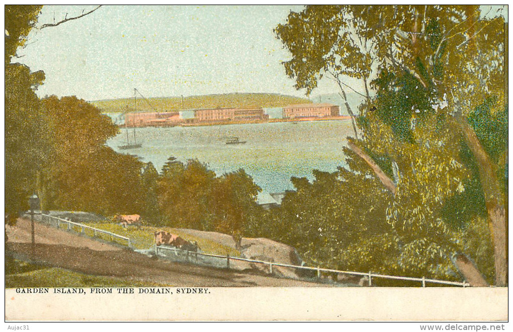 Australie - Australia - New South Wales - Sydney - Garden Island From The Domain - 2 Scans - état - Sydney