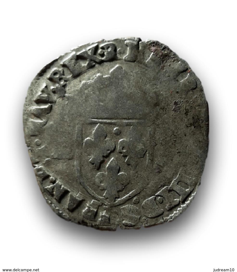 Douzain Aux 2 H, 1er Type, 1593 Barcelonnette - 1589-1610 Henri IV Le Vert-Galant