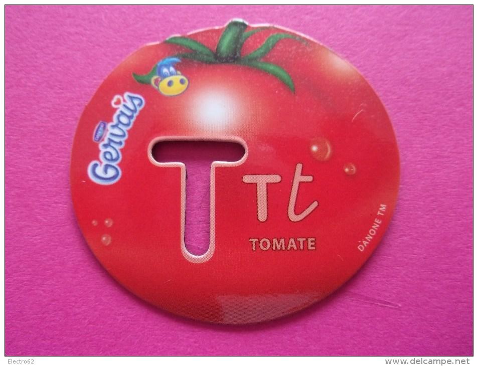 Magnet Danone  Gervais Tomate Fruit Lettre T - Letters & Digits