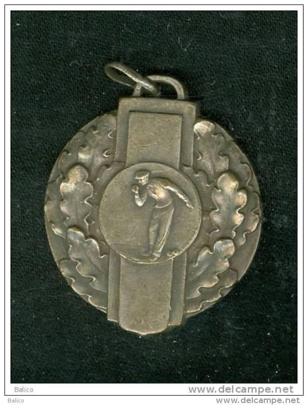 Médaille - Sur - Jeux De Boules - Pétanque Ou Lyonnaise - 009 - Bowls - Pétanque