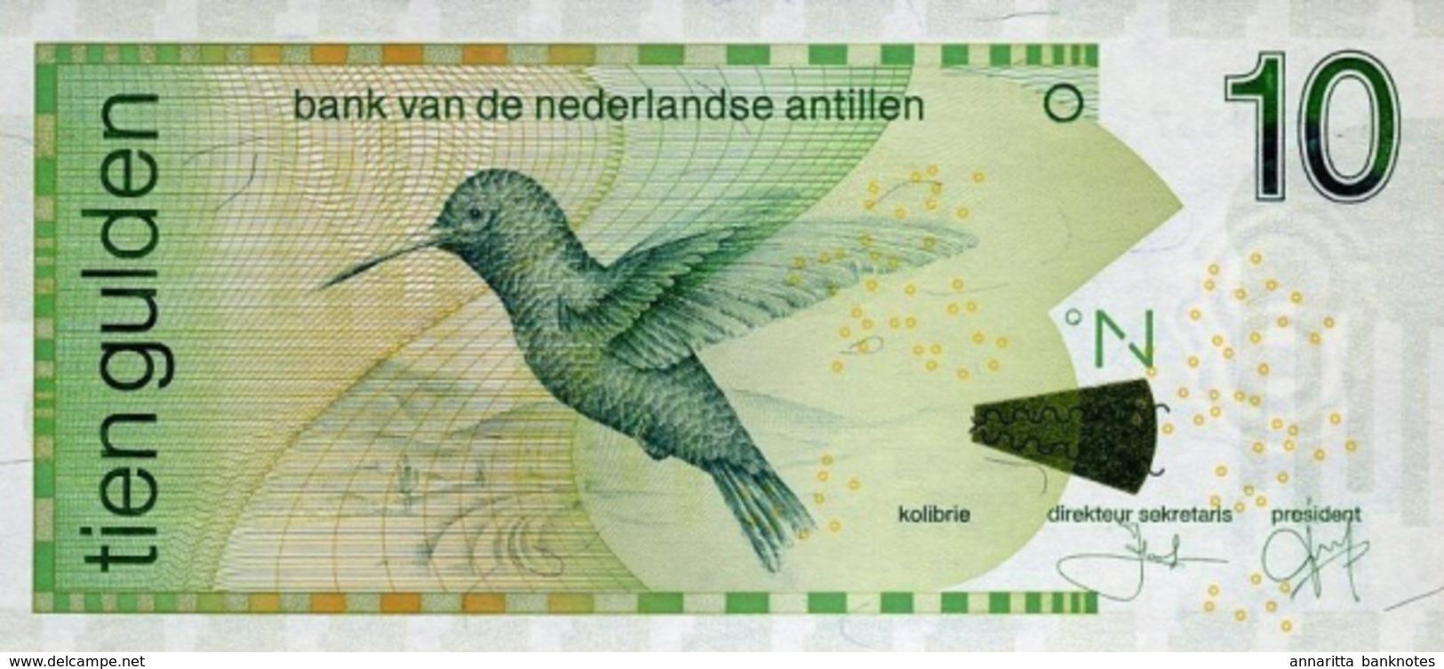 NETHERLANDS ANTILLES 10 GULDEN 2011 P-28 UNC [AN225e] - Other - America