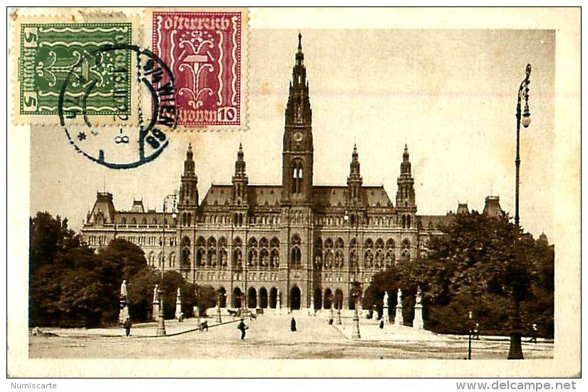 Cpa AUTRICHE - WIEN - Rathaus - Timbres - Ohne Zuordnung