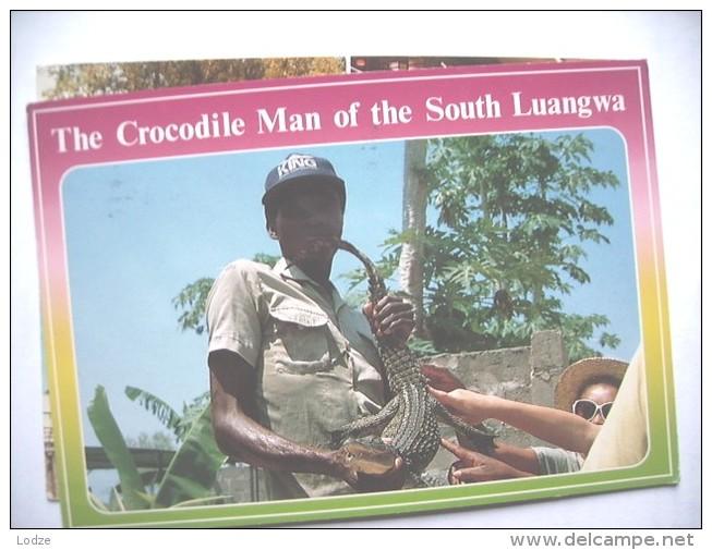 Africa Zambia Crocodile Man Of South Luangwa - Zambia