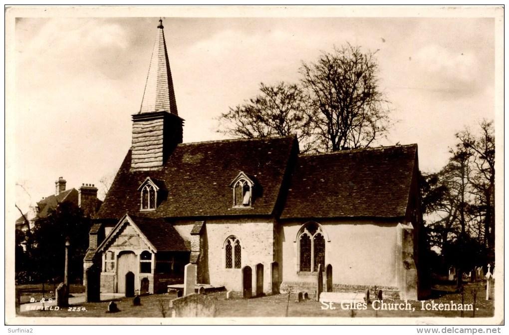 LONDON - ST GILES CHURCH ICKENHAM RP  Lo1094 - London Suburbs