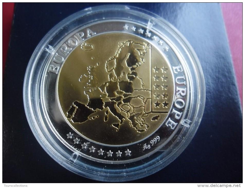 Superbe Médaille Argent Et Or - ITALIE - Première Frappe En Euro - BE - Altri