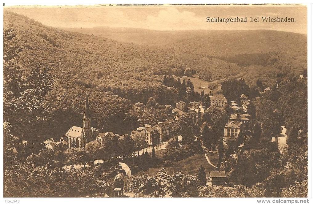 Deutschland, 1910, Schlangenbad Wiesbaden Nach Freiburg I/B, Siehe Scans! - Ohne Zuordnung