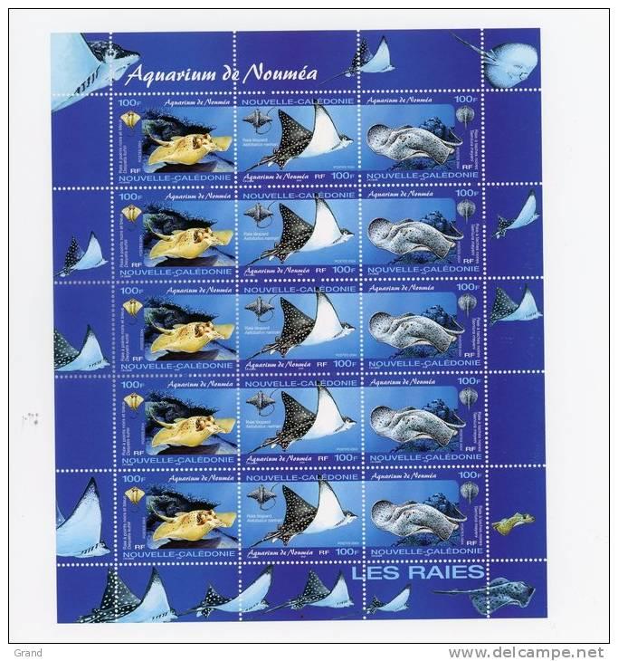 La Raie-Nouvelle Calédonie-2004-La Feuille***MNH - Fishes